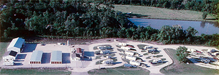 Aerial Photograph of Iola RV Park and Storage grounds.